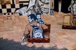 Les 2 artistes Evazesir parlent de la mobilité des hommes et des migrants.