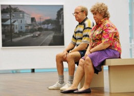 Duane Hanson, Old couple on a Bench, 1994