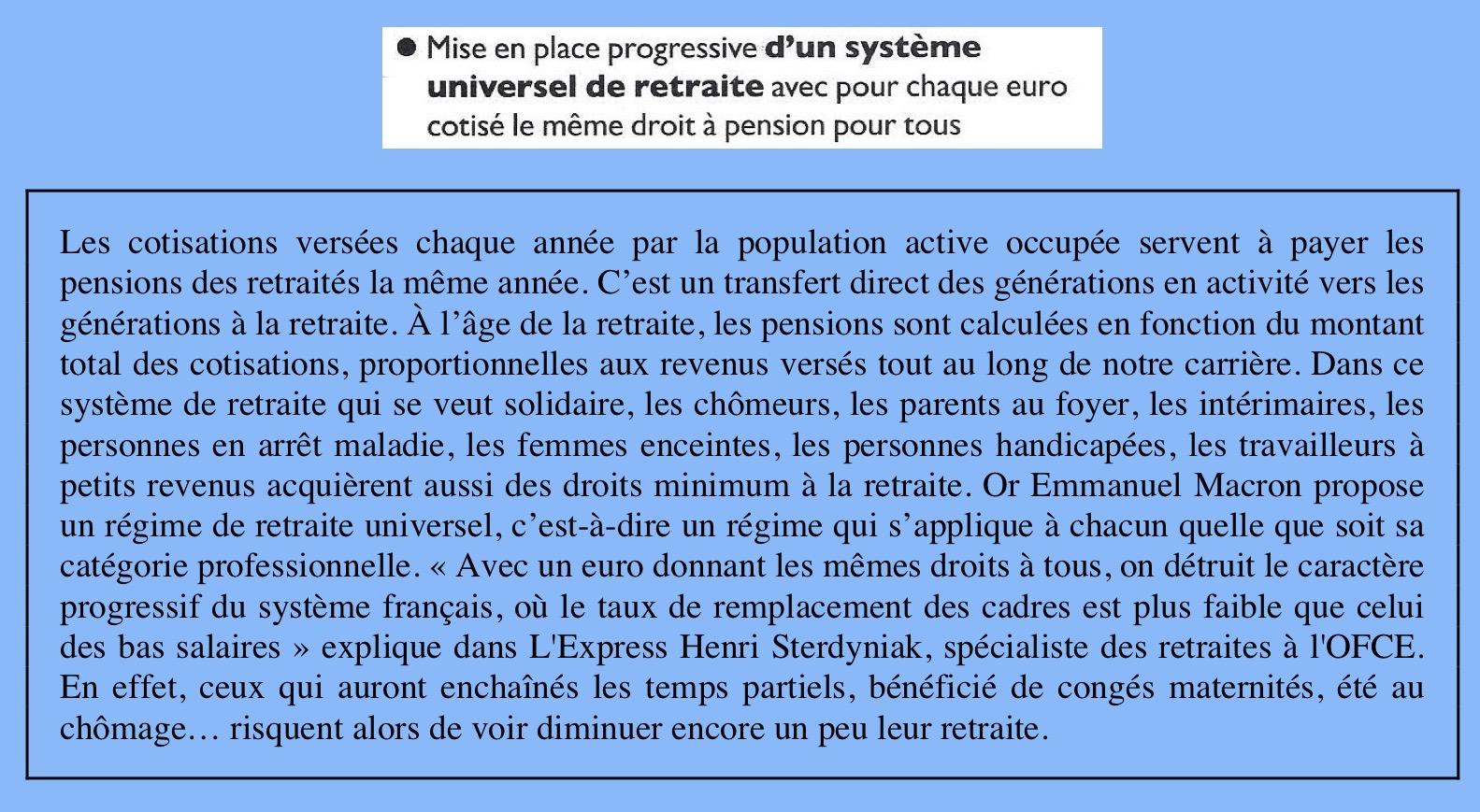 Commentaires programme Macron (glissé(e)s)
