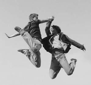 jumping-high-five