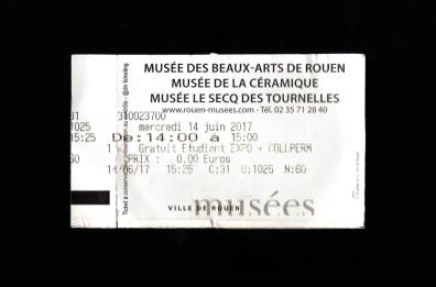 Ticket des 3 musées.